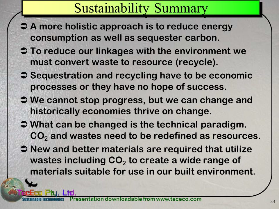 Sustainability Summary