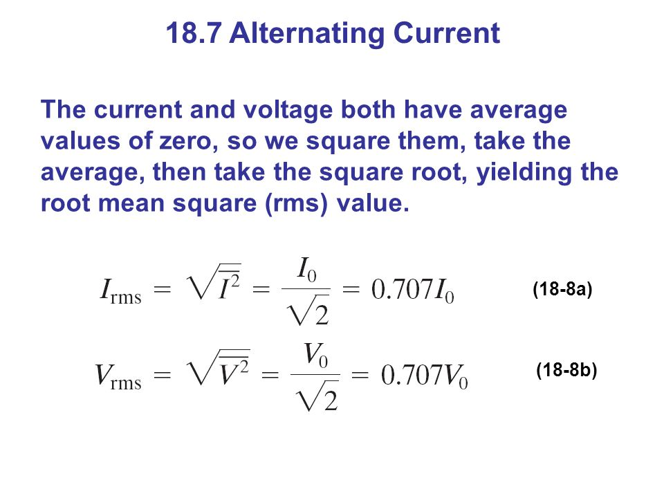 18.7 Alternating Current