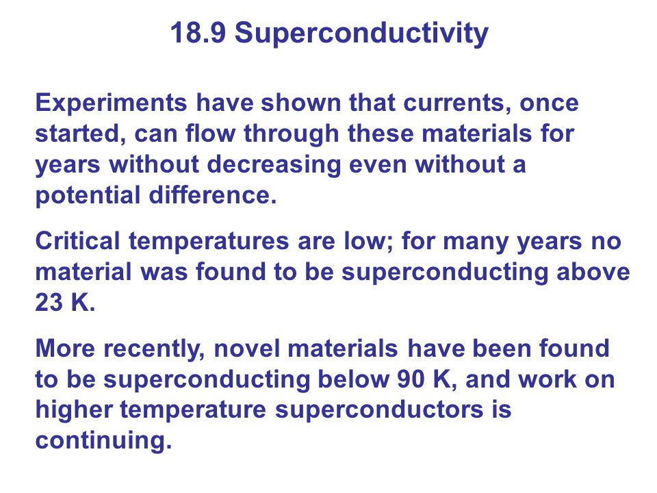 18.9 Superconductivity