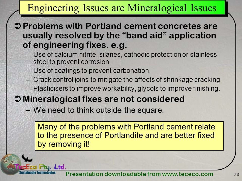 Engineering Issues are Mineralogical Issues