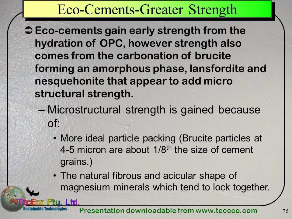 Eco-Cements-Greater Strength