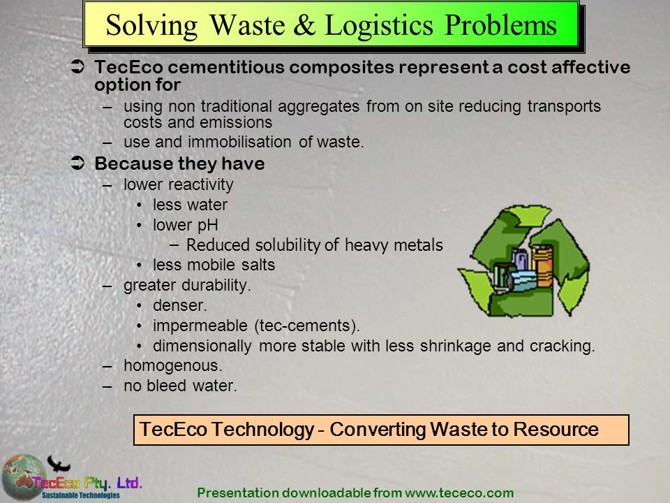Solving Waste & Logistics Problems