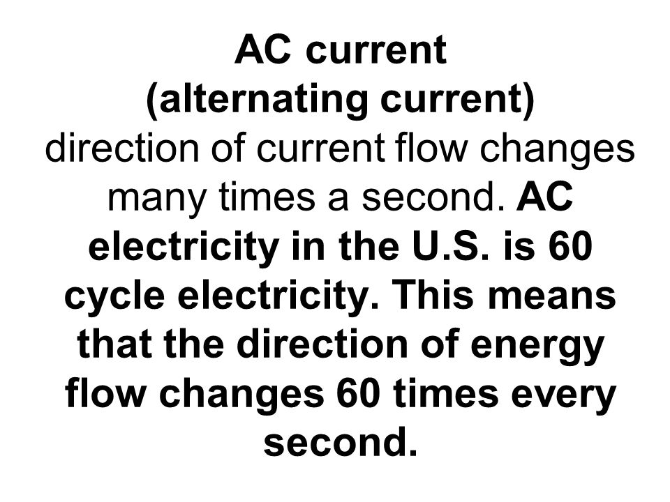 electric current and power