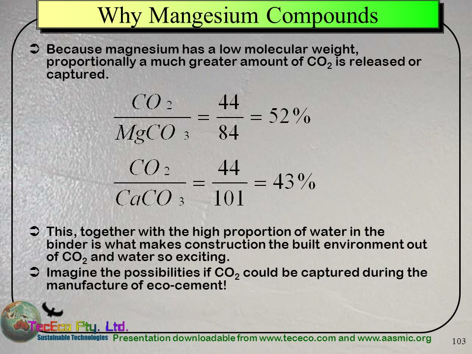 Why Mangesium Compounds
