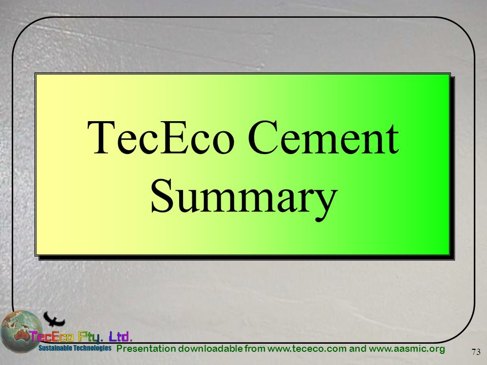 TecEco Cement Summary