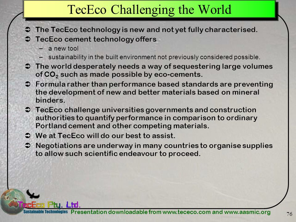 TecEco Challenging the World