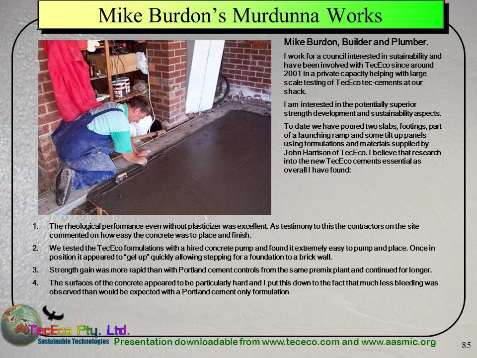 Mike Burdon's Murdunna Works