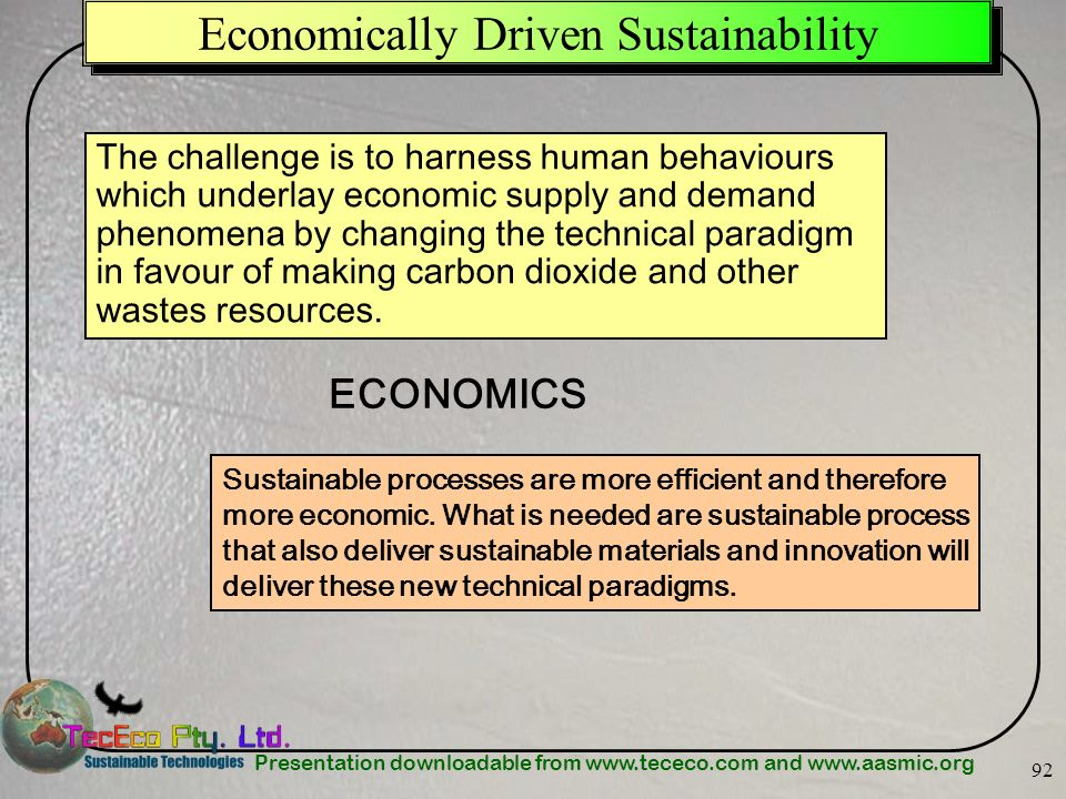 Economically Driven Sustainability