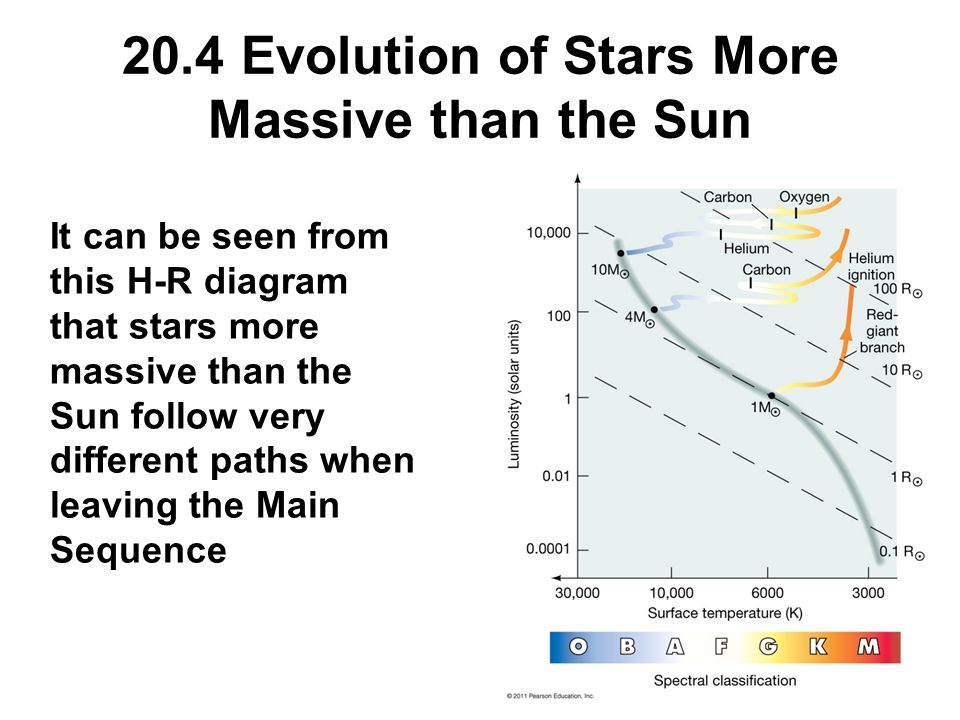 Chapter 20 stellar evolution ppt download 204 evolution of stars more massive than the sun ccuart Gallery