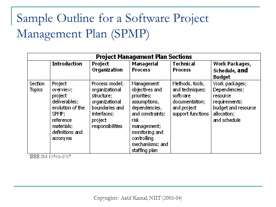 Project Management Plan | Software Project Management Ppt Video Online Download