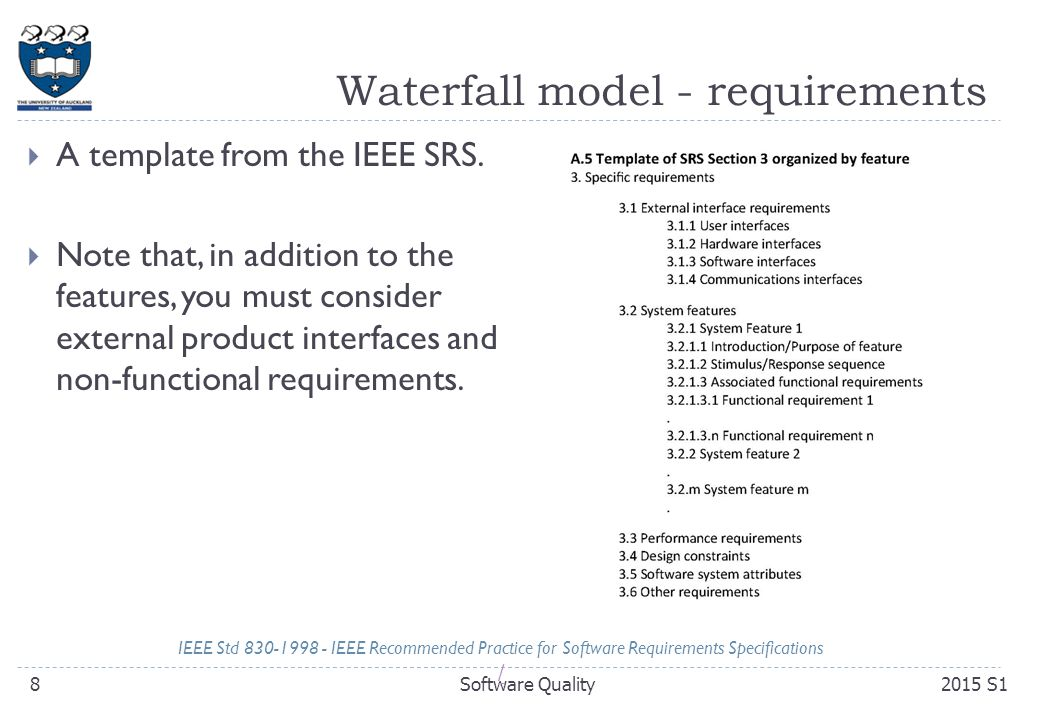 Compsci 230 software design and construction ppt download 8 waterfall model requirements maxwellsz