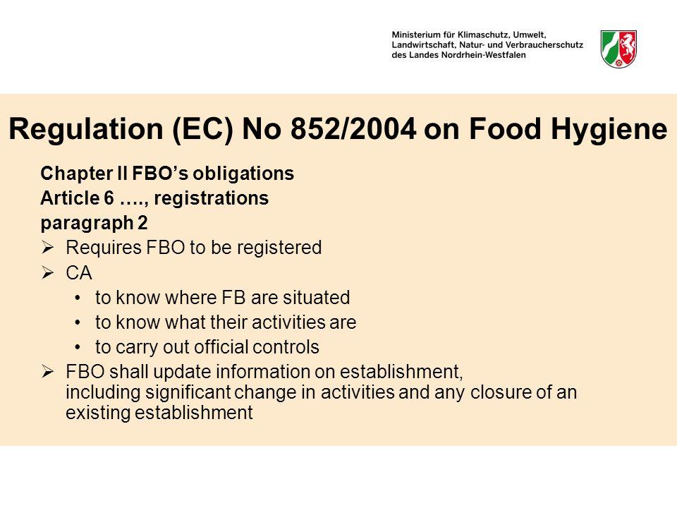 3 regulation ec no 8522004 on food hygiene