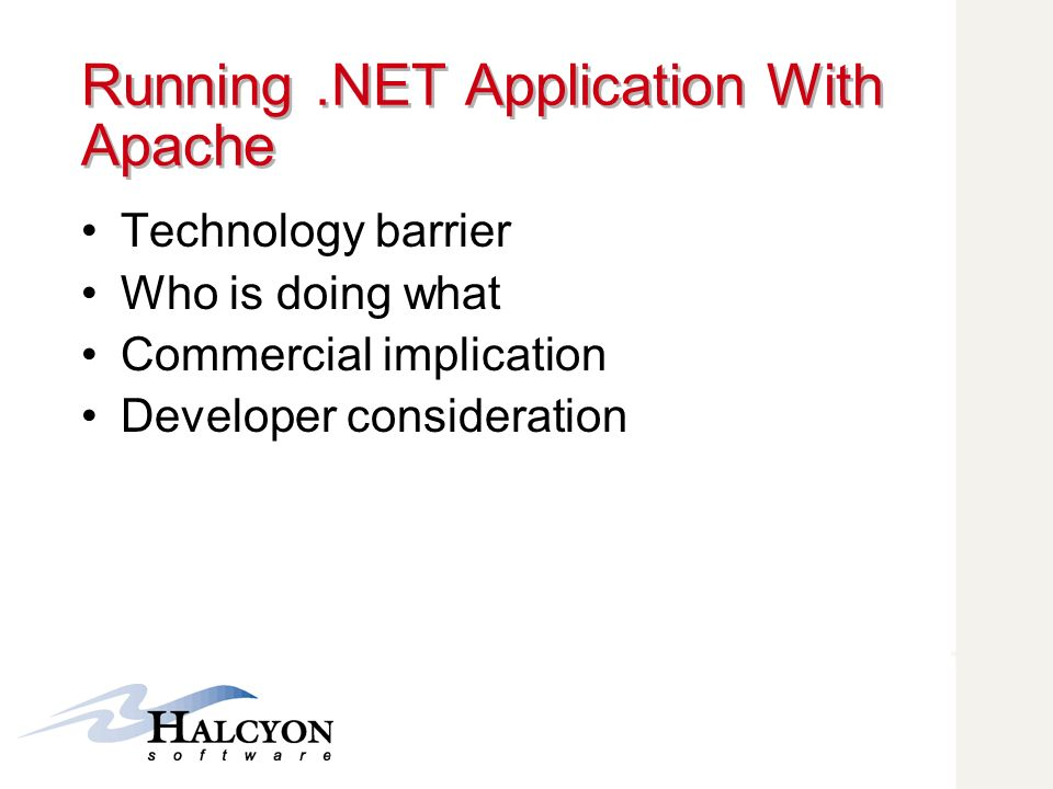 Running .NET Application With Apache