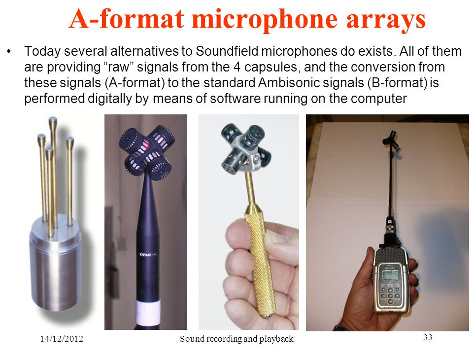 A-format microphone arrays