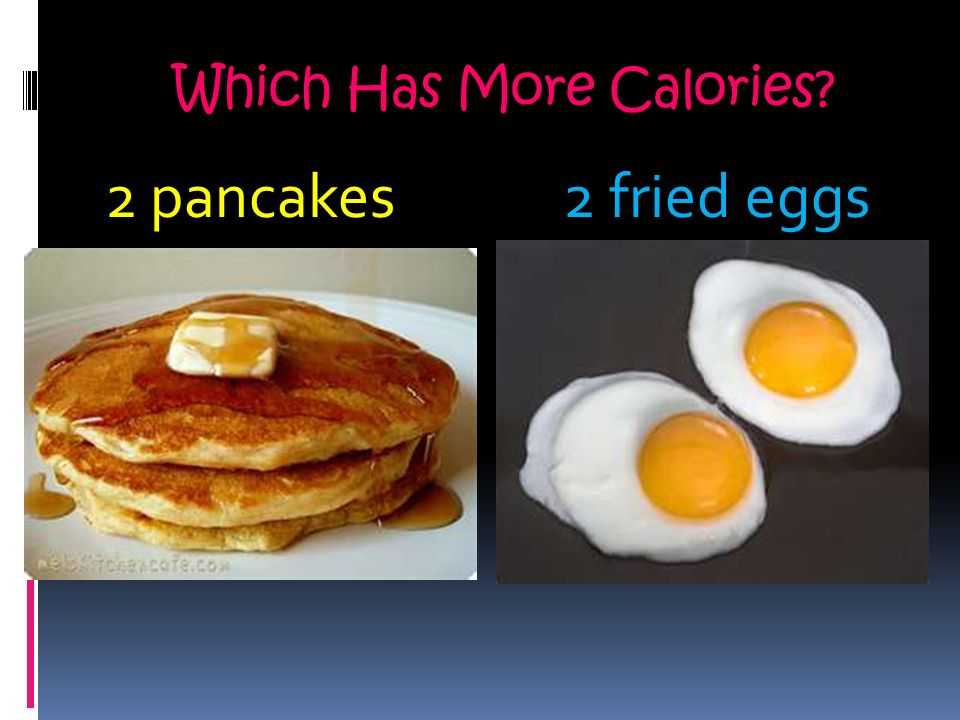 2 Pancakes Fried Eggs Which Has More Calories