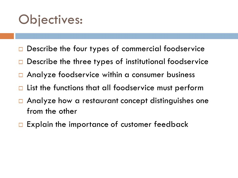 THE WORLD OF FOOD AND BEVERAGES - ppt video online download