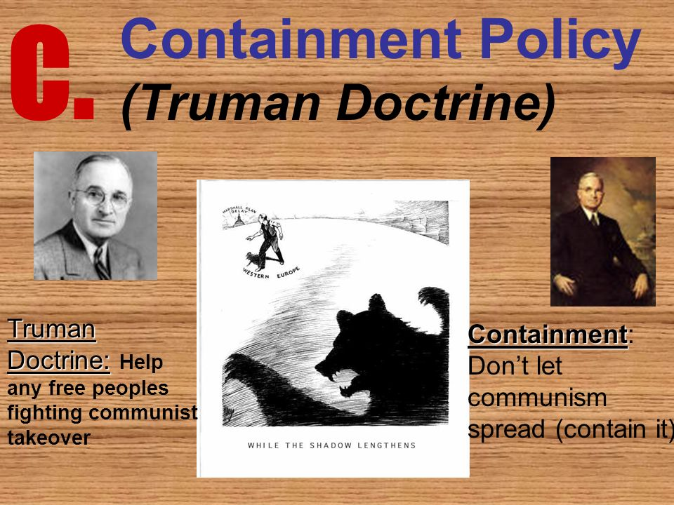 c containment policy truman doctrine the events of the cold war