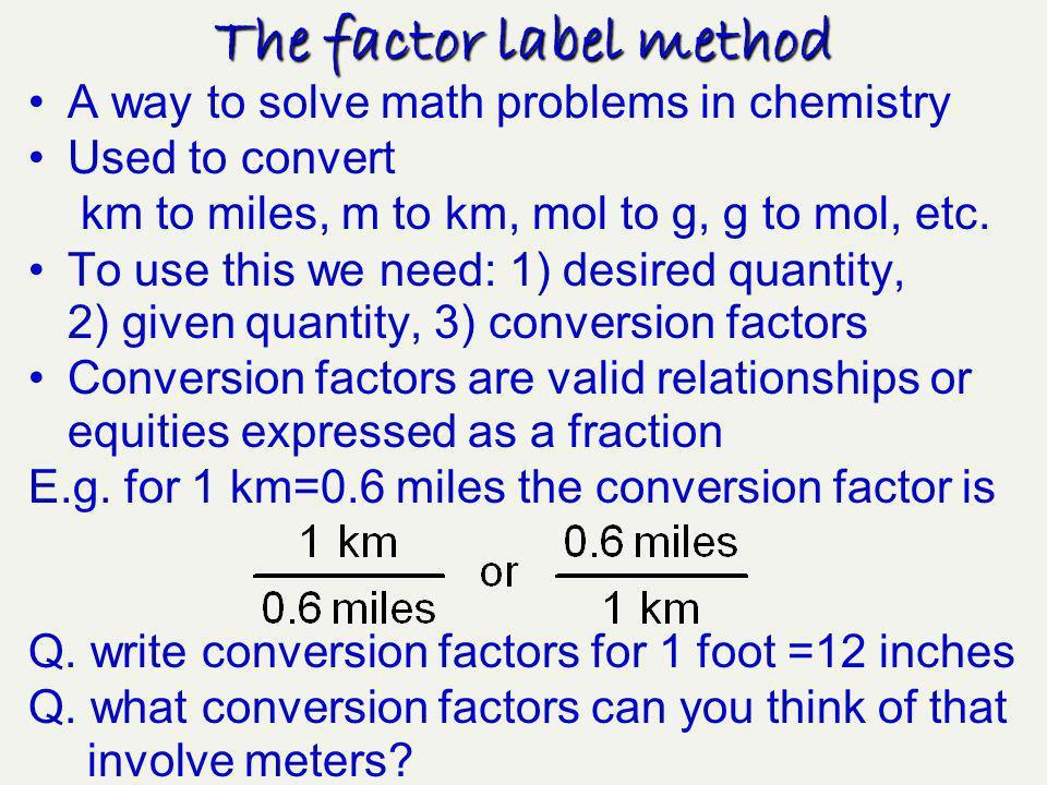 The Factor Label Method Ppt Download