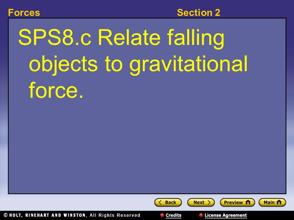 SPS8.c Relate falling objects to gravitational force.