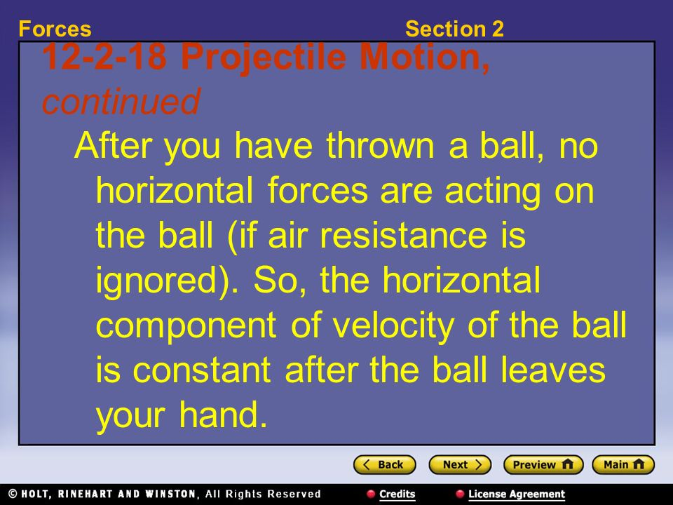 Projectile Motion, continued