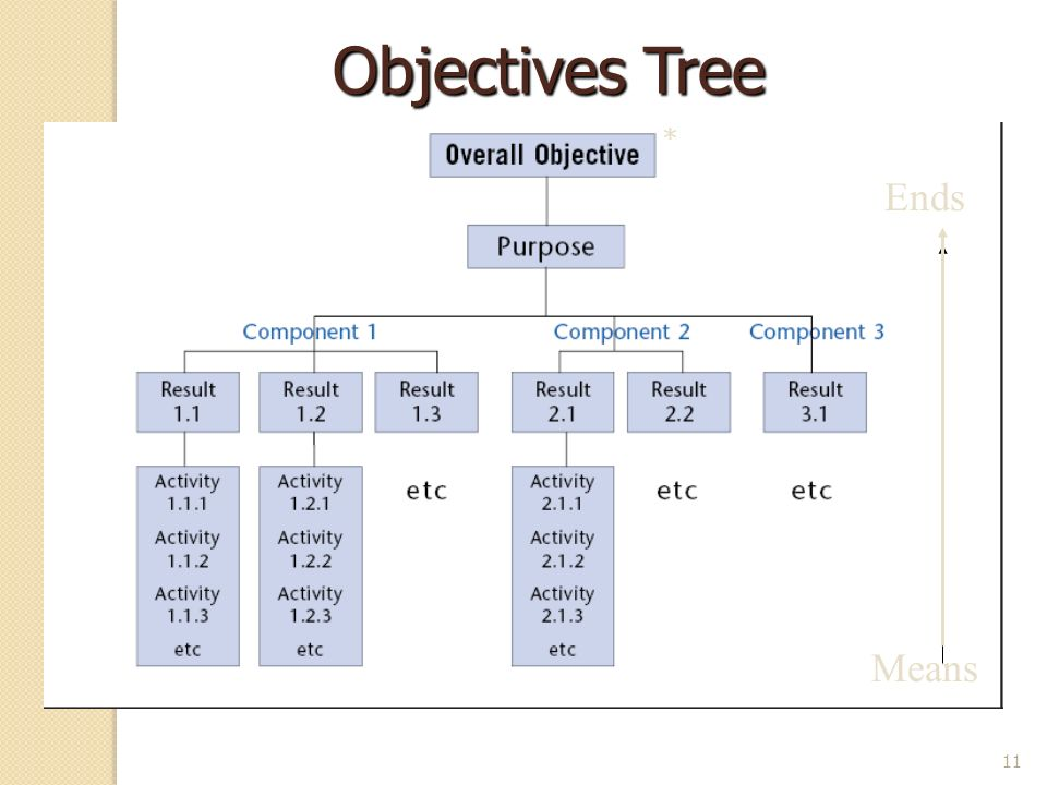Objectives Tree * Ends Means