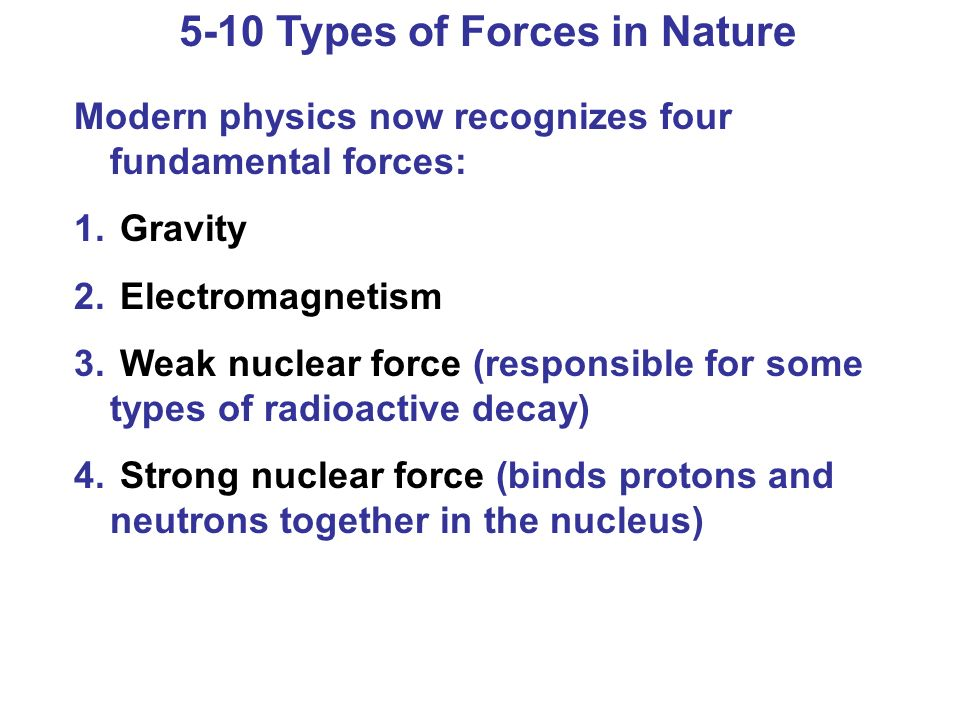 5-10 Types of Forces in Nature