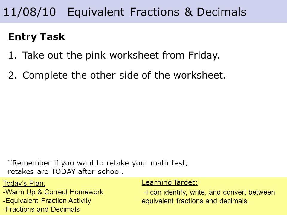 Fractions And Decimals Ppt Download. Fractions And Decimals. Worksheet. Equivalent Fractions Match Up Worksheet At Mspartners.co