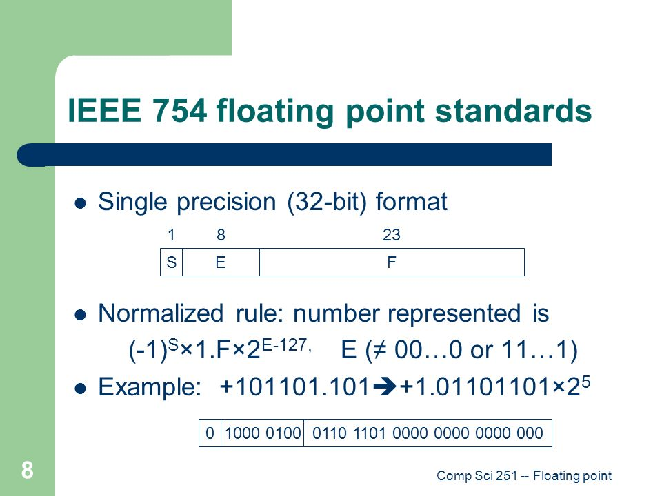 Ch  2 Floating Point Numbers - ppt download