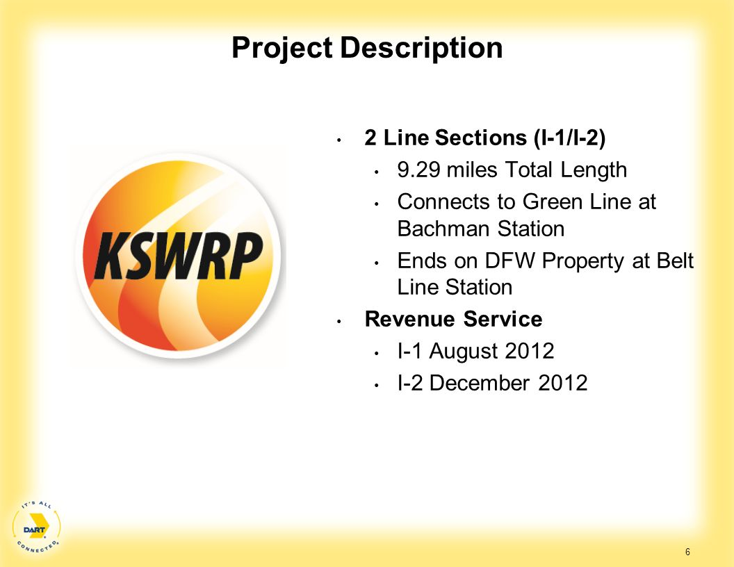 Project Description 2 Line Sections (I-1/I-2) 9.29 miles Total Length