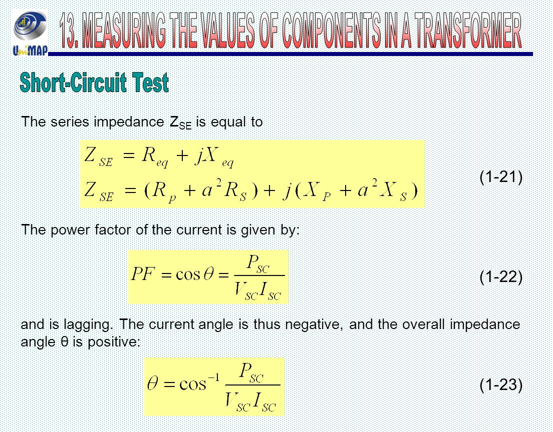 Electrical System Technology Ppt Video Online Download Short Circuit Testing Of Transformers Measuring The Values Components In A Transformer 42 13 Test