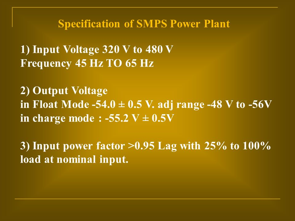 POWER PLANT USED IN TELECOM - ppt video online download