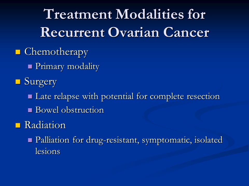 Treatment Of Refractory Ovarian Cancer Ppt Download