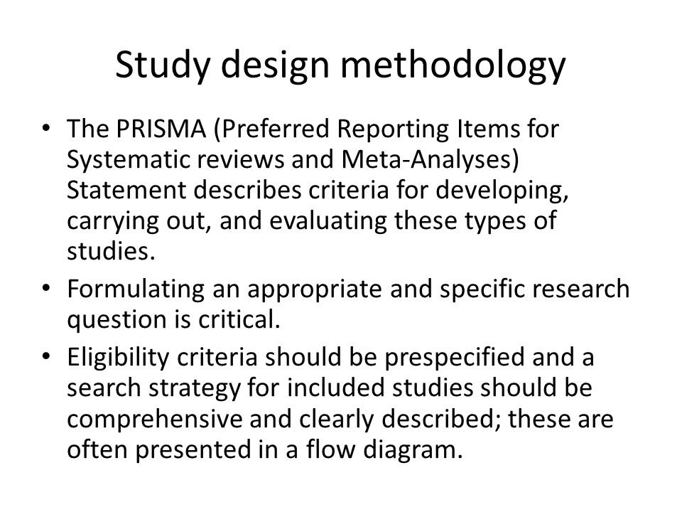Study design methodology