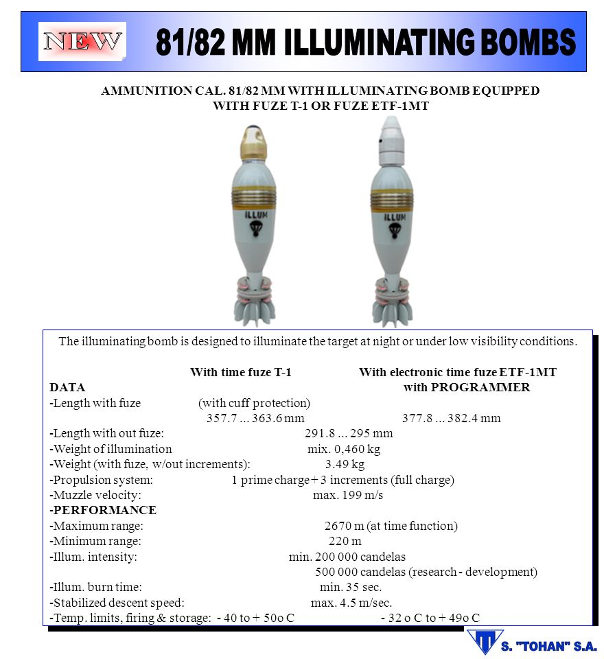81/82 MM ILLUMINATING BOMBS