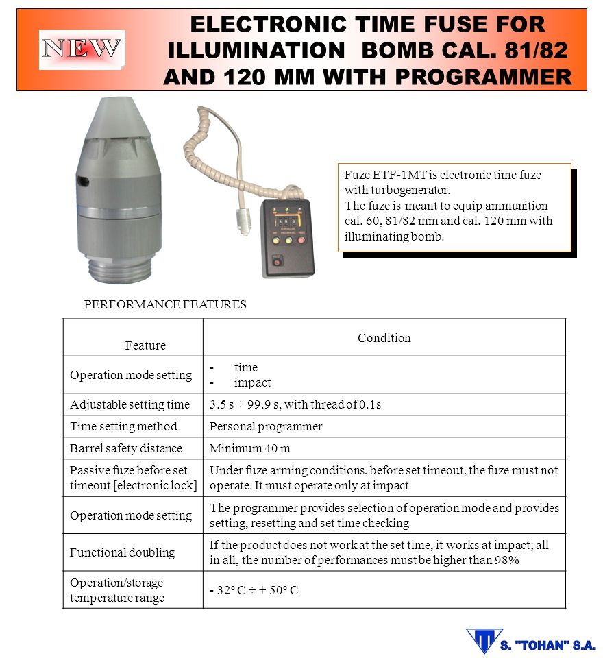 ELECTRONIC TIME FUSE FOR ILLUMINATION BOMB CAL