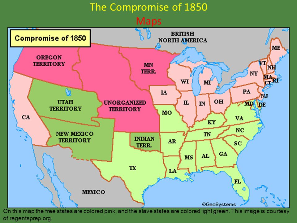 LEQ: What agreement admitted California to the Union as a free state ...