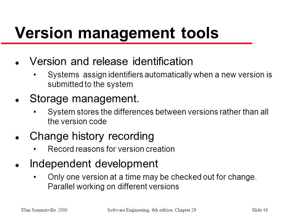 Version management tools