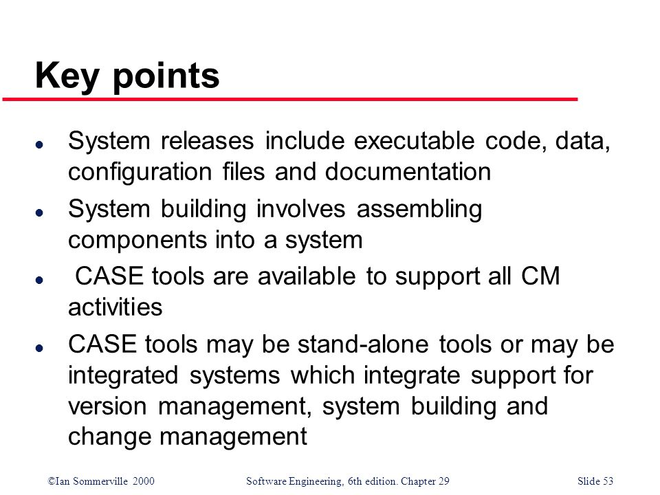 Key points System releases include executable code, data, configuration files and documentation.
