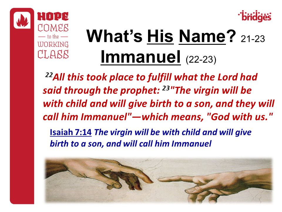 What's His Name Immanuel (22-23)