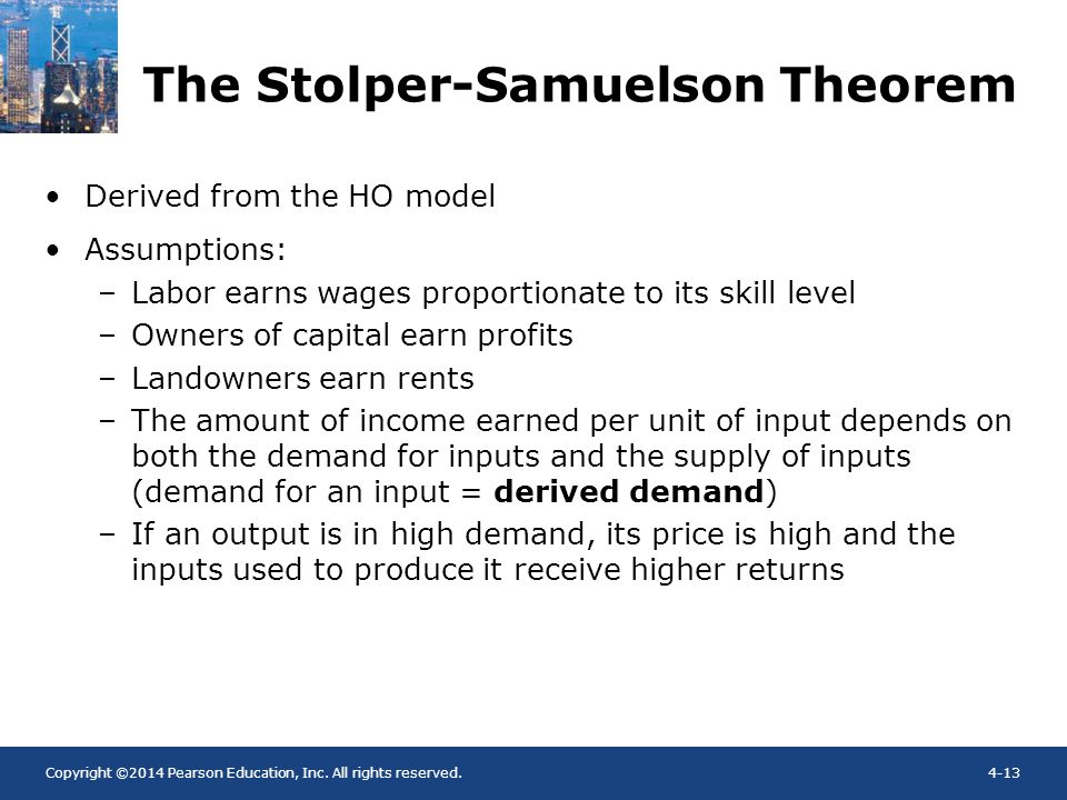 The Stolper-Samuelson Theorem