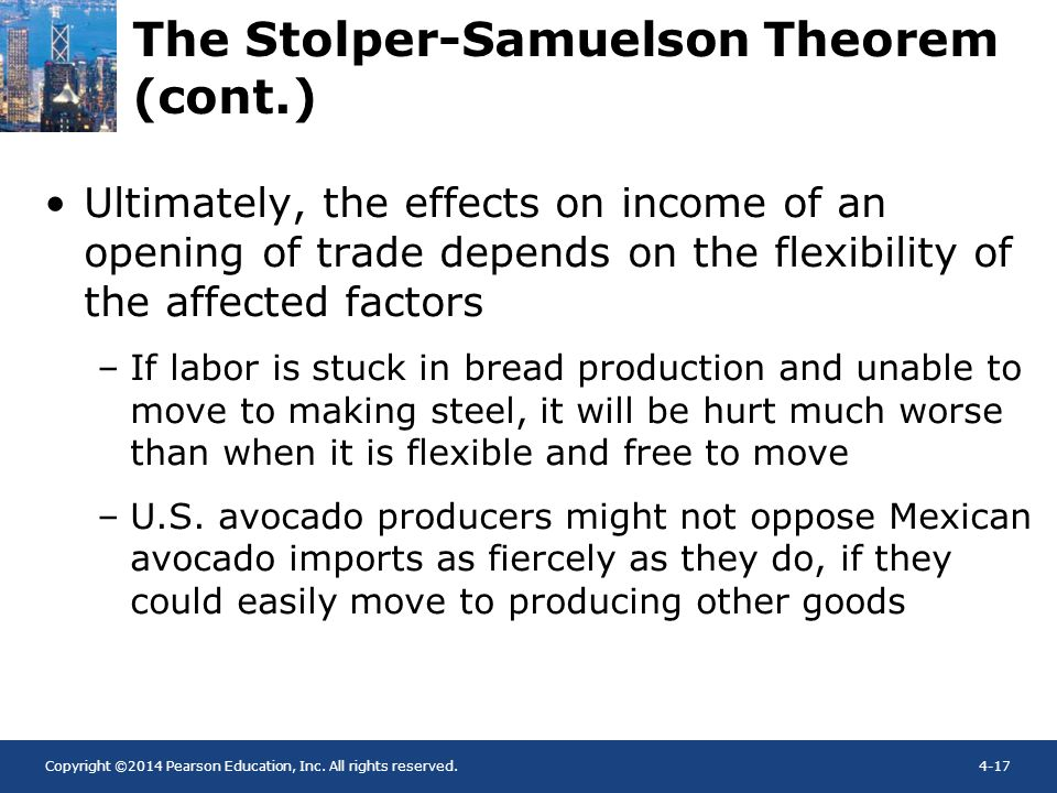 The Stolper-Samuelson Theorem (cont.)