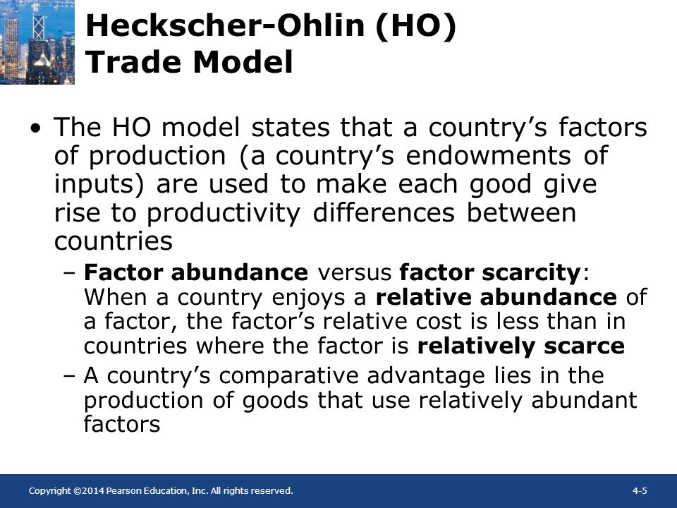 Heckscher-Ohlin (HO) Trade Model