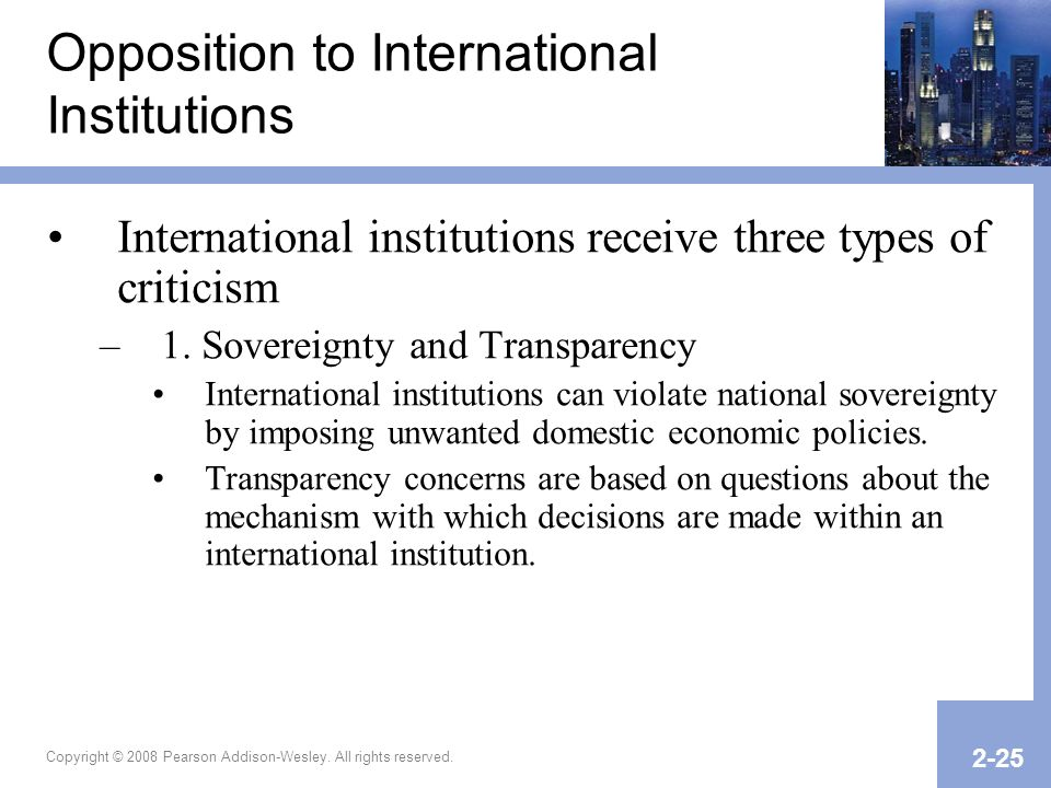 Opposition to International Institutions