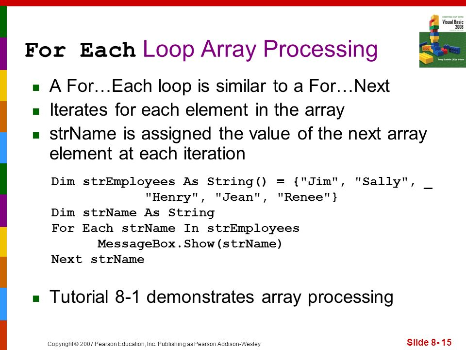 For Each Loop Array Processing