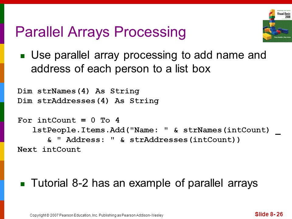 Parallel Arrays Processing