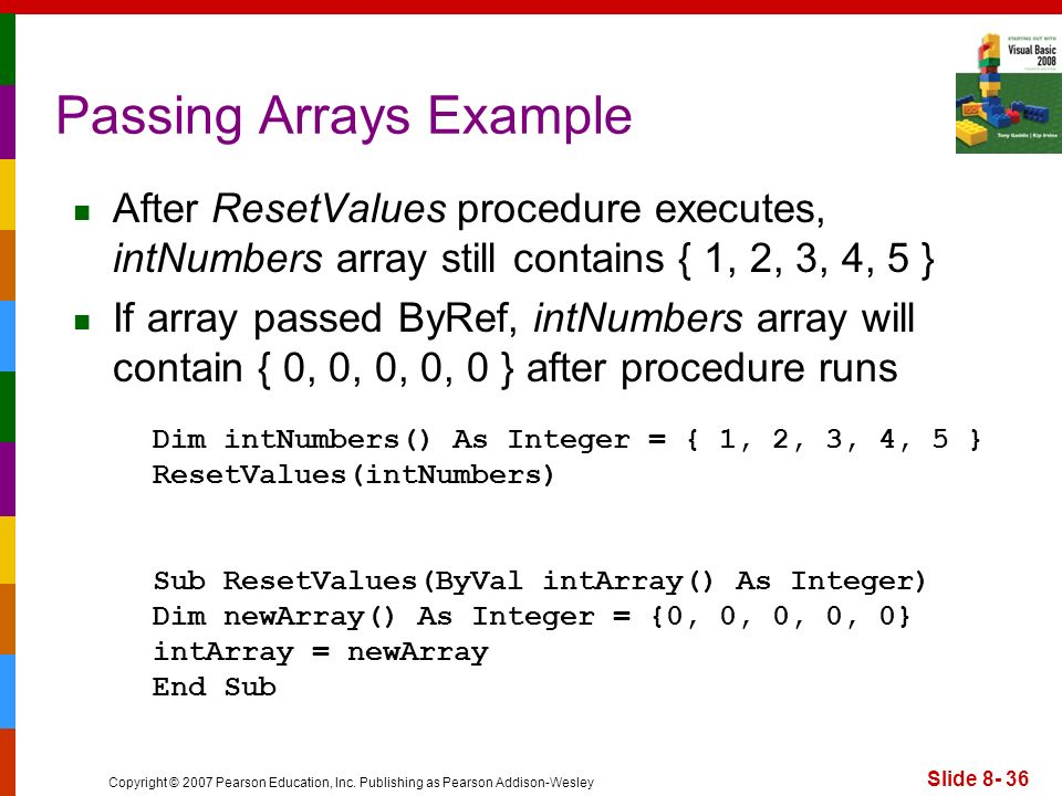 Passing Arrays Example