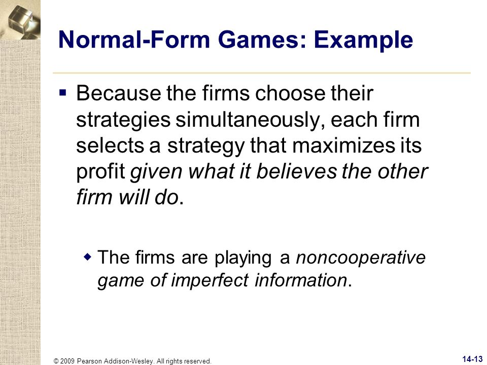 Normal-Form Games: Example