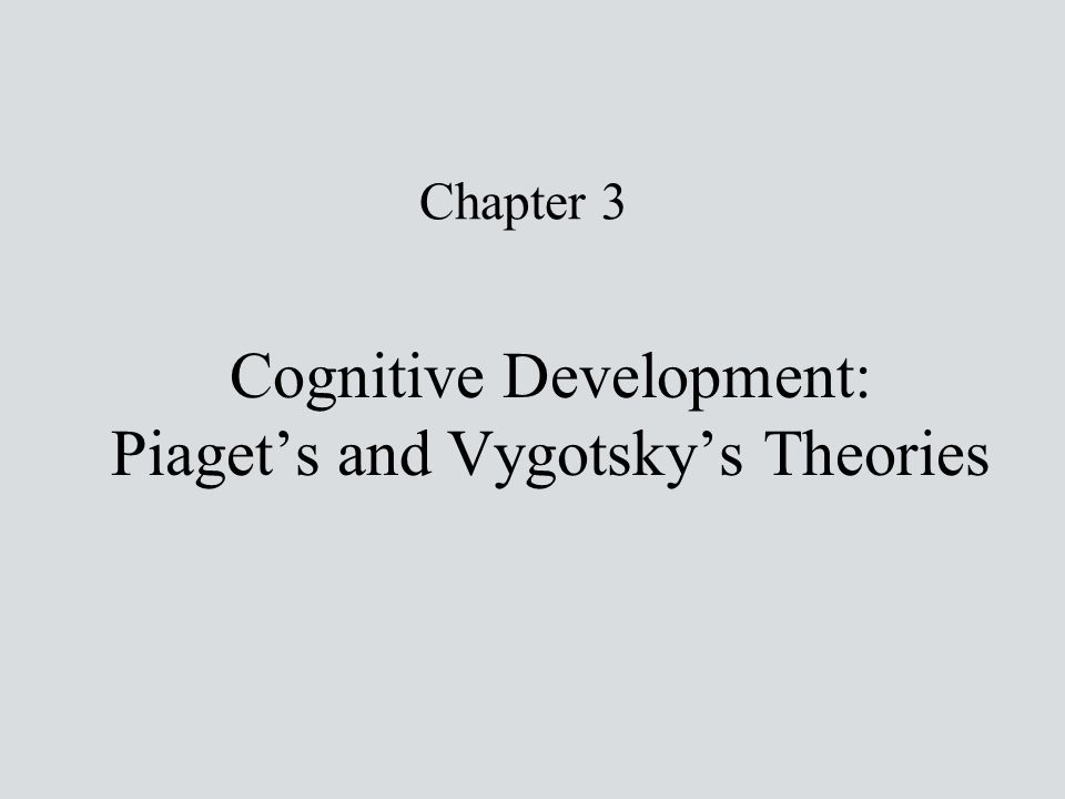 Cognitive Development: Piaget's and Vygotsky's Theories