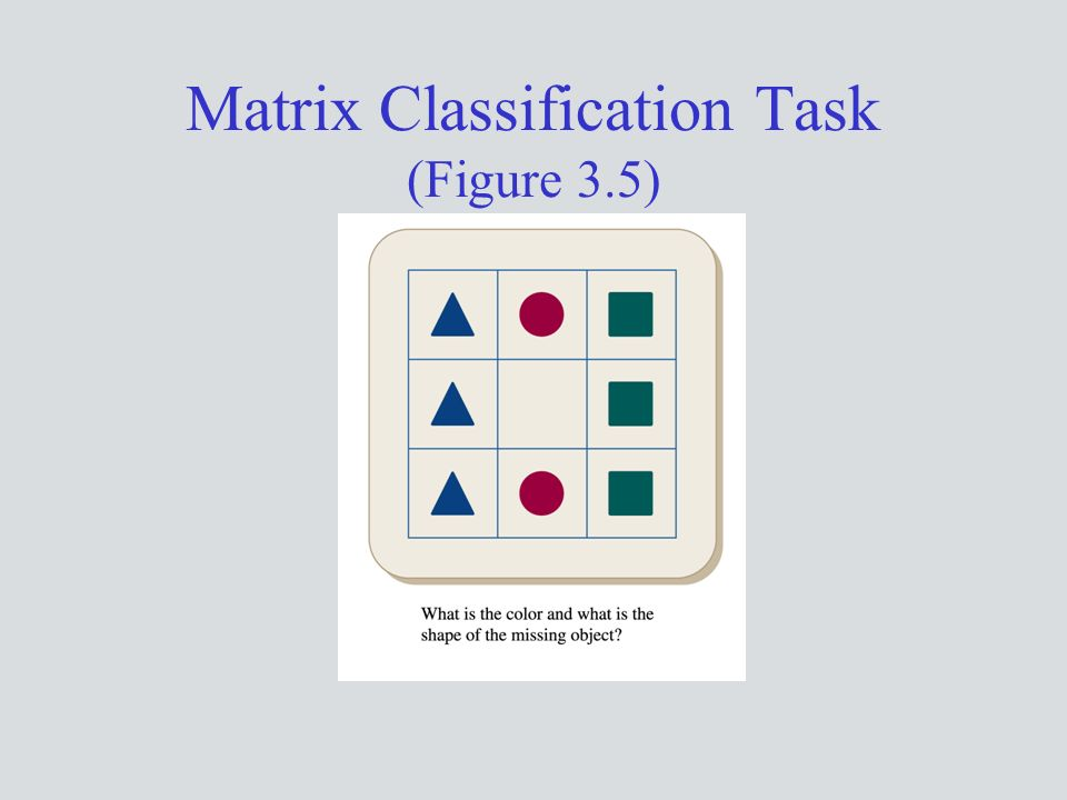 Matrix Classification Task (Figure 3.5)