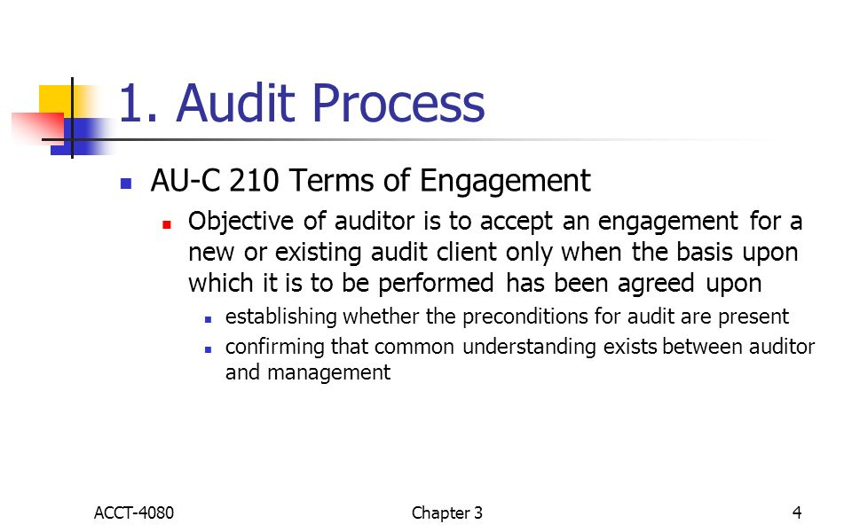 Chapter 3 Engagement Planning ACCT 4080 Chapter ppt video online